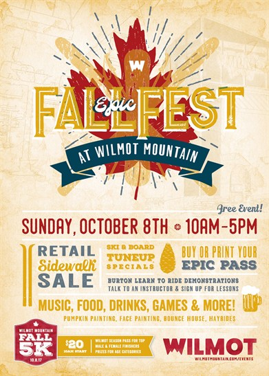 Vail's Wilmot Mountain Fall Fest – Sunday, 10/8/17