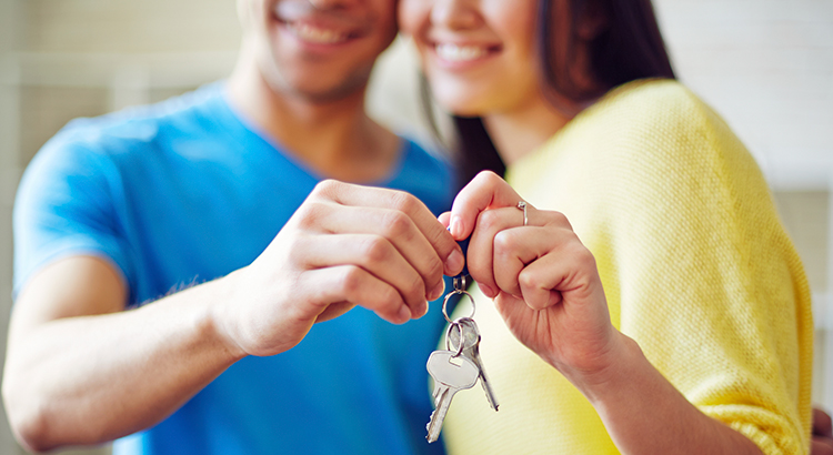 Homeowners with keys