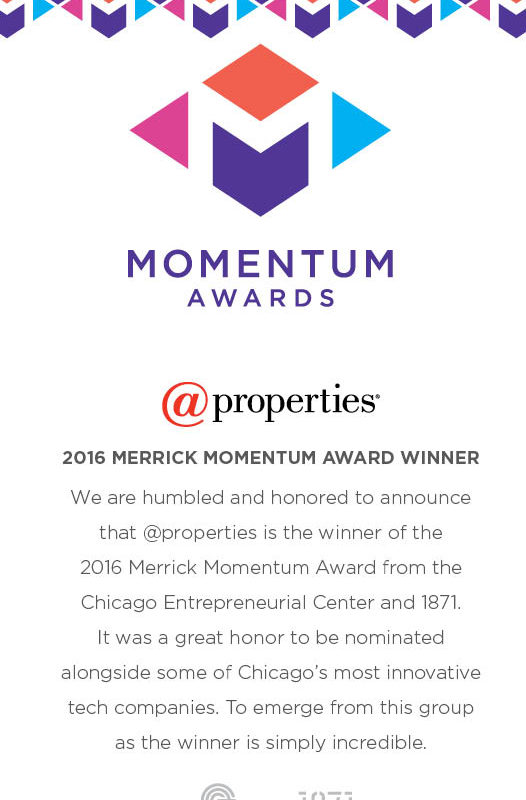 @properties Wins 2016 Merrick Momentum Award